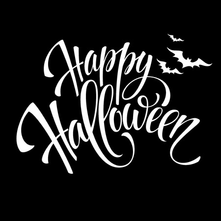 Ilustración de Happy Halloween message design background. Vector illustration  - Imagen libre de derechos