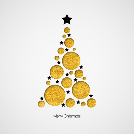 Illustration pour Christmas card with Christmas tree. Vector illustration   - image libre de droit