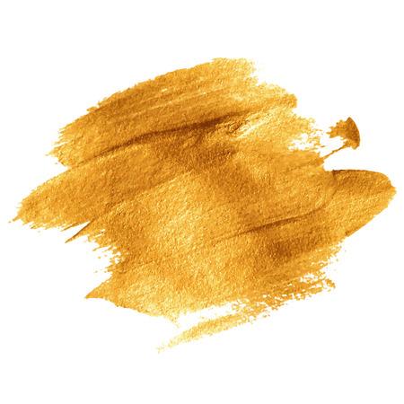 Illustration pour Gold acrylic paint. Vector illustration EPS 10 - image libre de droit