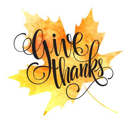 Ilustración de Thanksgiving background. Watercolor autumn leaves. Vector illustration EPS 10 - Imagen libre de derechos