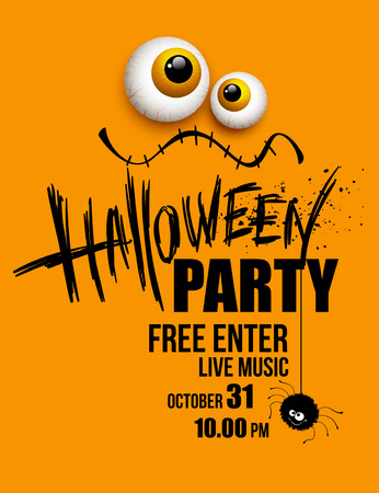 Illustrazione per Halloween party. Happy holiday. Vector illustration EPS 10 - Immagini Royalty Free