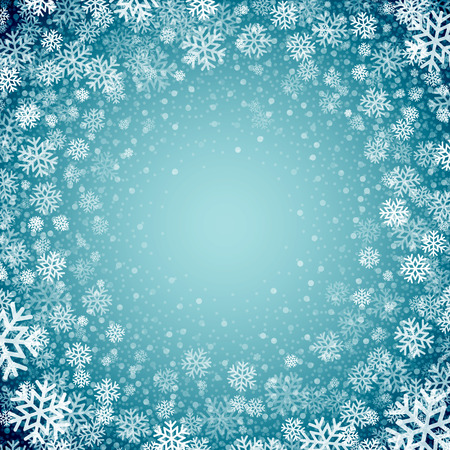 Illustration for Blue background with snowflakes. Vector illustration EPS 10 - Royalty Free Image