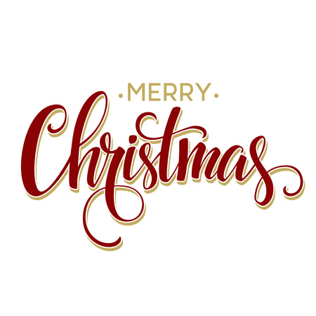 Illustration pour Merry Christmas Lettering Design. Vector illustration  - image libre de droit
