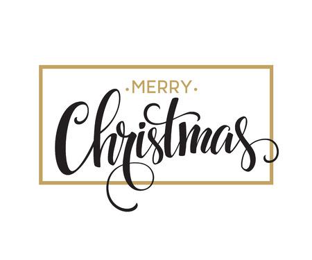 Illustration for Merry Christmas Lettering Design. Vector illustration  - Royalty Free Image