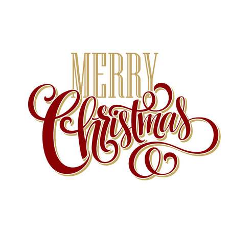 Illustration for Merry Christmas Lettering Design. Vector illustration EPS10 - Royalty Free Image