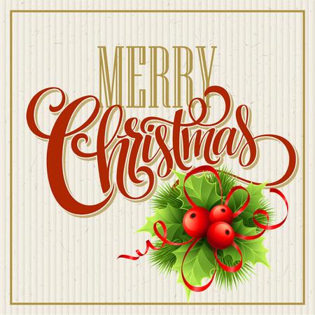 Illustration pour Merry Christmas Lettering Design. Vector illustration EPS10 - image libre de droit
