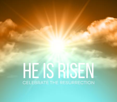 He is risen. Easter background. Vector illustration EPS10