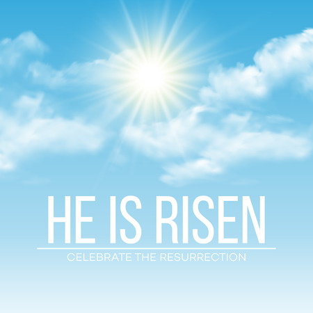 Illustration pour He is risen. Easter background. Vector illustration EPS10 - image libre de droit
