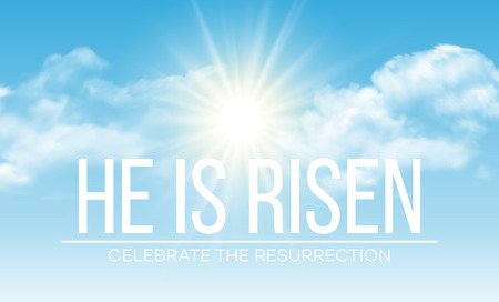 Illustration for He is risen. Easter background. Vector illustration EPS10 - Royalty Free Image