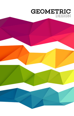 Illustration pour Abstract geometric triangle low poly set. Vector illustration EPS10 - image libre de droit