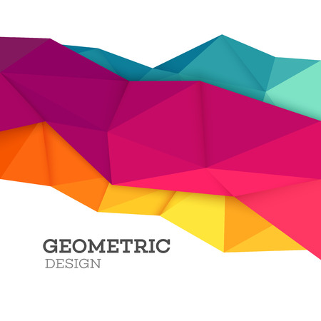 Illustration for Abstract geometric triangle low poly set. Vector illustration EPS10 - Royalty Free Image