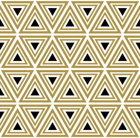 Illustration pour Vector seamless pattern. Modern stylish texture. Black and white seamless geometric pattern. - image libre de droit