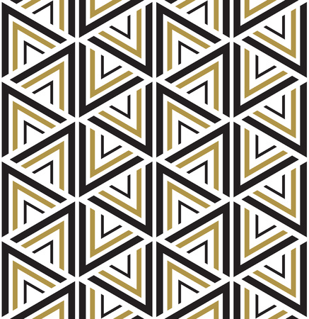 Ilustración de Vector seamless pattern. Modern stylish texture. Black and white seamless geometric pattern. - Imagen libre de derechos