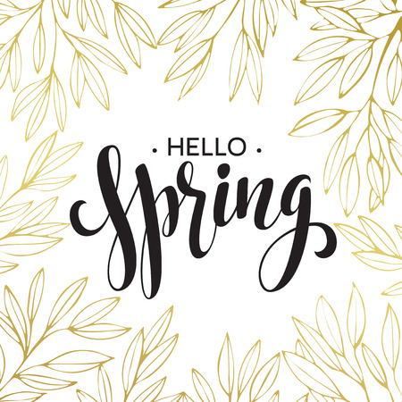 Illustration pour Spring handwritten calligraphy. - image libre de droit