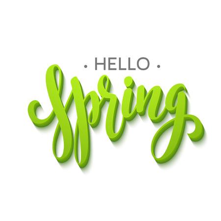 Illustration pour Hello Spring lettering design. - image libre de droit