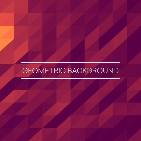 Illustration for Abstract mosaic background. Pink, purple, orange triangles geometric background. Design elements. Vector illustration EPS10 - Royalty Free Image