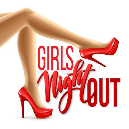 Illustration pour Girl Night Out Party Design. Vector illustration EPS10 - image libre de droit