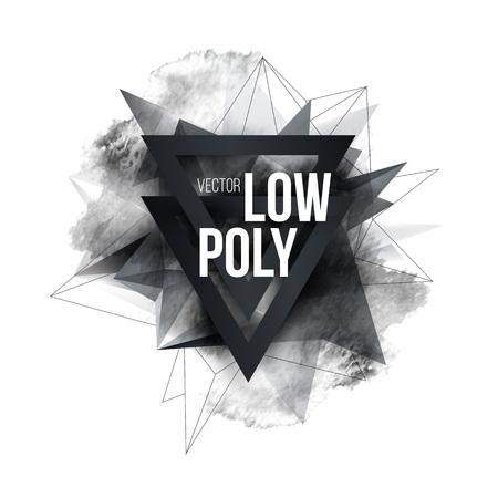 Photo pour Low polygon geometry shape poster design. Vector illustration - image libre de droit
