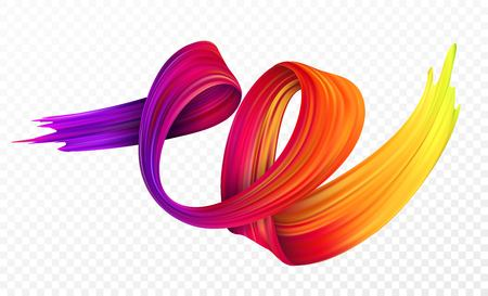 Ilustración de Color brushstroke oil or acrylic paint design element for presentations, flyers, leaflets, postcards and posters. Vector illustration - Imagen libre de derechos