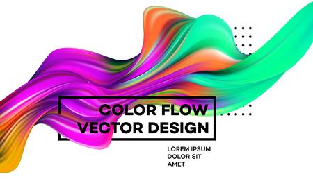 Illustration pour Modern colorful flow poster - image libre de droit