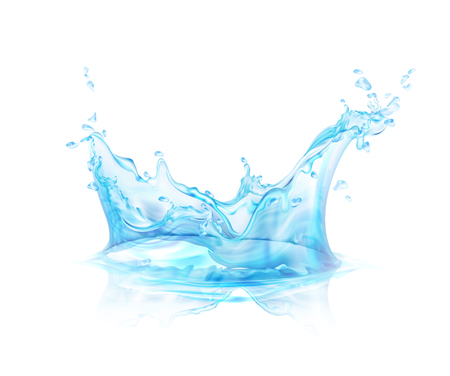 Ilustración de Translucent water splash isolated on transparent background vector illustration. - Imagen libre de derechos