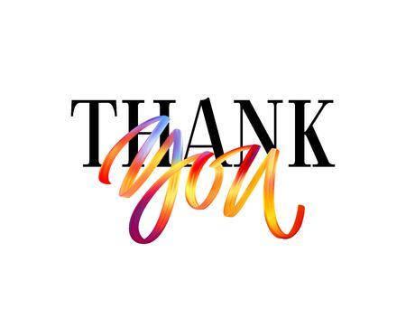 Illustration pour Hand drawn color brush lettering quote Thank You. Vector illustration EPS10 - image libre de droit