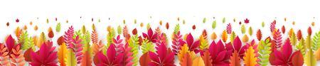 Illustration pour Autumn banner with fall leaves. Vector illustration EPS10 - image libre de droit