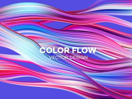 Illustration pour Modern colorful flow poster. Wave Liquid shape color background. Art design for your design project. Vector illustration EPS10 - image libre de droit