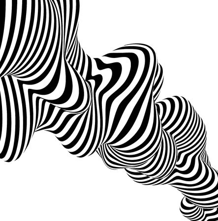 Illustration for Abstract striped background wave design black and white line. Vector illustration EPS10 - Royalty Free Image
