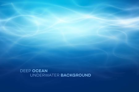 Ilustración de Blue deep water and sea abstract natural background. Vector illustration EPS10 - Imagen libre de derechos