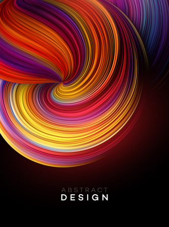 Ilustración de Color Flow Abstract shape poster design. Vector illustration EPS10 - Imagen libre de derechos