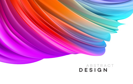 Illustration pour Color Flow Abstract shape poster design. Vector illustration EPS10 - image libre de droit