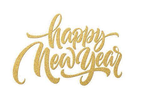 Illustration pour Happy New Year 2020. Lettering greeting inscription. Vector illustration - image libre de droit
