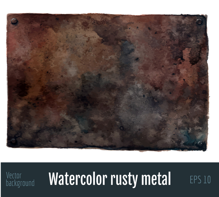 Ilustración de Watercolor rusty metal background. - Imagen libre de derechos