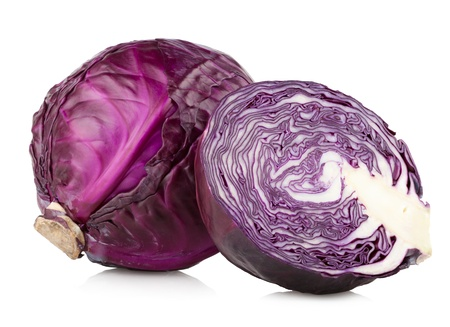 Photo pour red cabbage isolated on white - image libre de droit