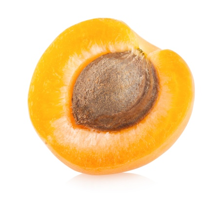 Photo for ripe apricot isolated on white background - Royalty Free Image