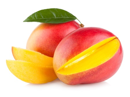Foto de mango fruit isolated on white background - Imagen libre de derechos