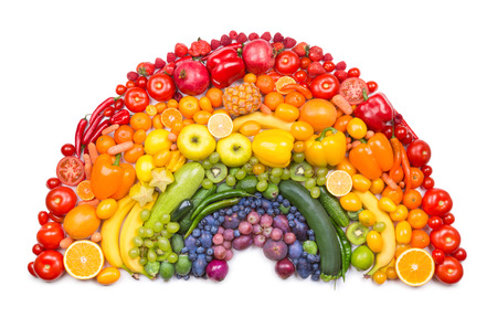 Photo pour fruit and vegetable rainbow - image libre de droit