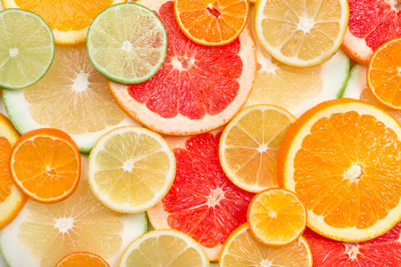 Photo pour background of citrus slices - image libre de droit