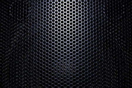 Foto de Black background protective grille with light. - Imagen libre de derechos