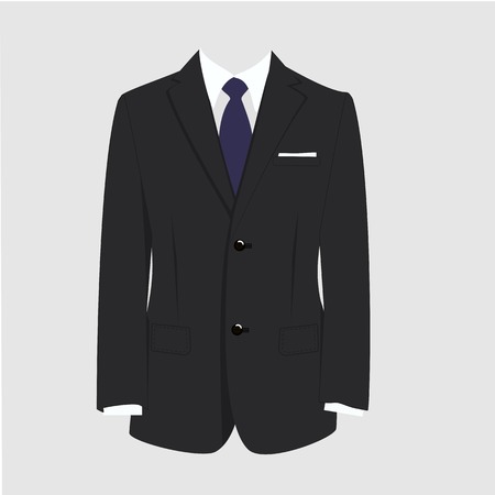 Illustrazione per Illustration of  man suit, tie, business suit,  man in suit - Immagini Royalty Free