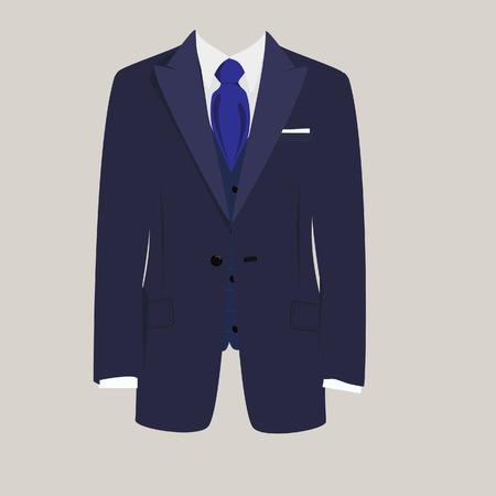 Illustration pour Illustration of  man suit, tie, business suit,  business, mens suit, man in suit - image libre de droit