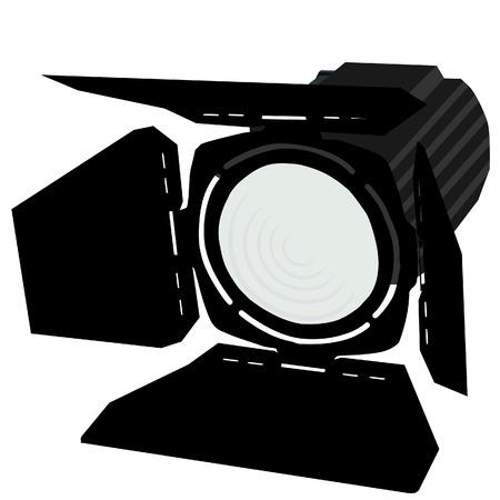 Illustration pour Spotlight, black spotlights, spotlights icon, stage lights - image libre de droit