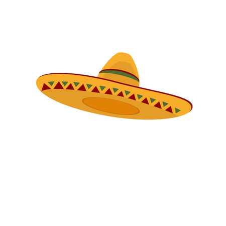 Illustration for Mexican hat, sombrero, mexican hat isolated, mexican hat vector - Royalty Free Image