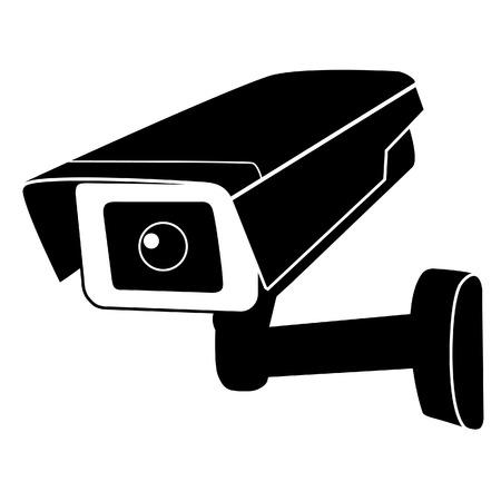Ilustración de Surveillance camera vector icon. Surveillance monitors. Camera cctv, security camera - Imagen libre de derechos