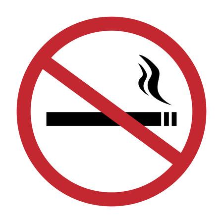 Illustration pour Round no smoking sign, quit smoking, smoke free, no smoking icon vector illustration - image libre de droit