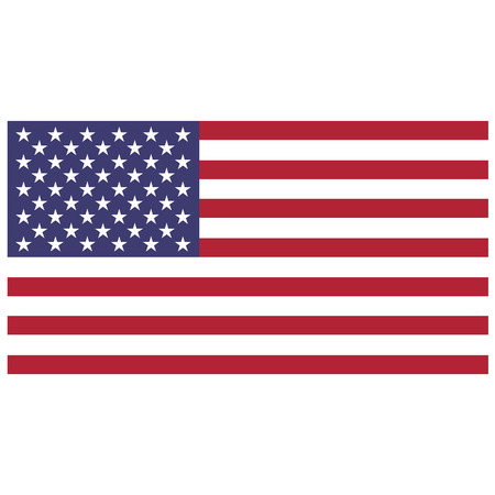 Illustration for Vector illustration of usa flag. Rectangular national flag of usa. Flag of United States of America.  Independence day - Royalty Free Image