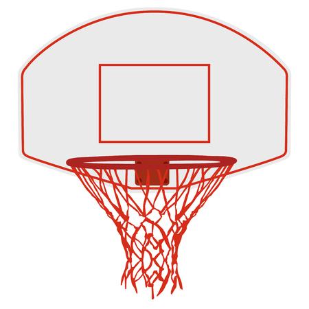 Ilustración de Vector illustration basketball basket, basketball hoop, basketball net. Basketball icon - Imagen libre de derechos
