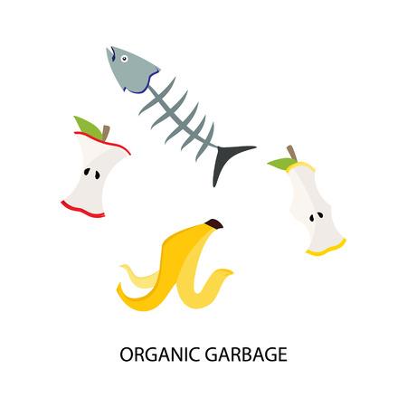 Ilustración de Organic food trash - Imagen libre de derechos