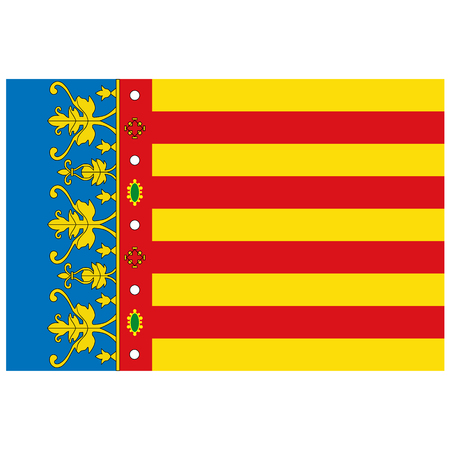 Foto de Raster Flag of Valencian Community - Autonomous Communities in Spain - Imagen libre de derechos